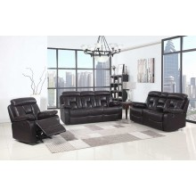 9425 - Brown Sofa Set