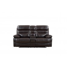 9442 - Brown Console Loveseat