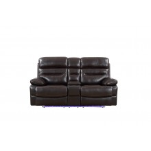 9442 - Brown Power Reclining Console Loveseat