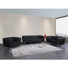 970 - Black Sofa Set