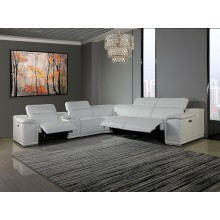 9762 - White 3-Power Reclining 6PC Sectional w/ 1-Console