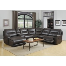 9917 - Dark Brown Sectional LAF