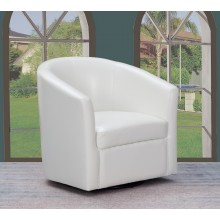 A25 - White Accent Chair