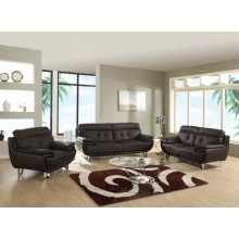 A159 - Brown Sofa Set