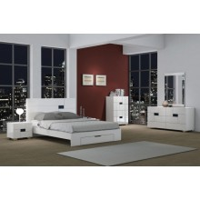 Aria - White 4PC Bedroom Set