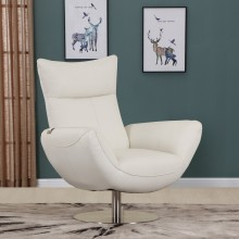 C74 - White Lounge Chair