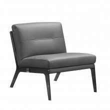 C81 - Dark Gray Leather Accent Chair