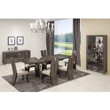 D59 - Gray Dining Table and 6 Chair Set