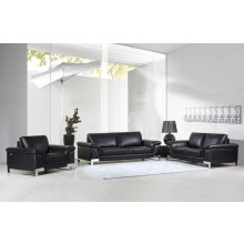 411 - Black Sofa Set