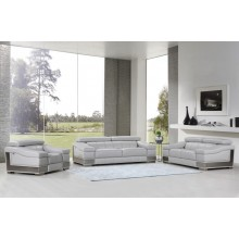 415 - Light Gray Sofa Set