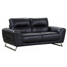 485 - Black Loveseat