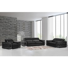 692 - Black Sofa Set