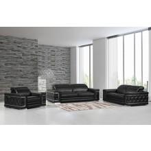 692 - Black Sofa Set
