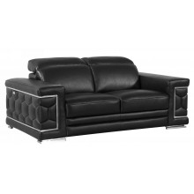 692 - Black Loveseat
