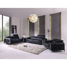 903 - Black Sofa Set