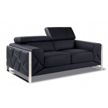 903 - Black Loveseat