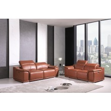 9762 - Camel Power Reclining Sofa Love