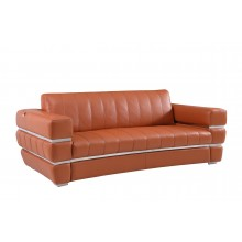 904 - Camel Italian Leather Sofa