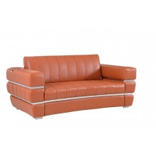 904 - Camel Italian Leather Loveseat