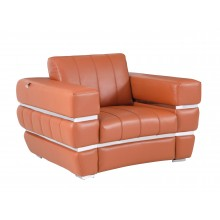 904 - Camel Italian Leather Chair