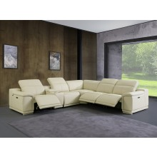 9762 - Beige 3-Power Reclining 6PC Sectional w/ 1-Console