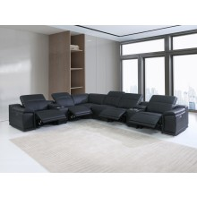 9762 - Black 4-Power Reclining 8PC Sectional /w 2-Consoles