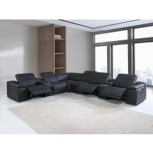 9762 - Black 3-Power Reclining 8PC Sectional /w 2-Consoles