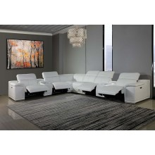 9762 - White 4-Power Reclining 8PC Sectional /w 2-Consoles