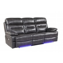 9442 - Gray Power Reclining Sofa