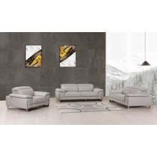 636 - Light Gray Sofa Set