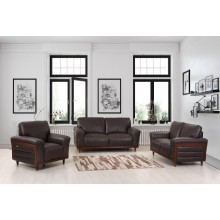 756 - Brown Sofa Set
