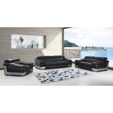 415 - Black Sofa Set
