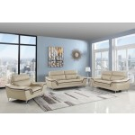168 - Beige Sofa Set