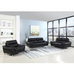 168 - Black Sofa Set