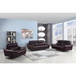 168 - Brown Sofa Set