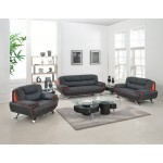 405 - Black Sofa Set