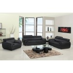 4571 - Black Sofa Set