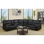 7096 - Black Sectional