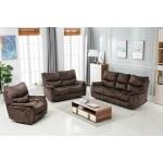 7167 - Dark Brown Sofa Set