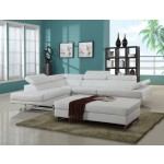 8136 - White Sectional LAF