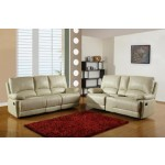9345 - Beige Sofa with Console Loveseat