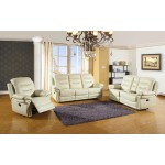 9392 - Beige Sofa Set with Console Loveseat