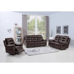 9392 - Brown Sofa Set with Console Loveseat