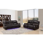 9422 - Brown Power Reclining Sofa Love