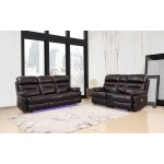 9442 - Brown Power Reclining Sofa Love