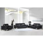 411 - Black Sofa Set