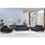 485 - Black Sofa Set