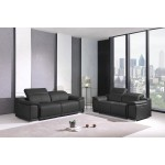 9762 - Dark Gray Power Reclining Sofa Love