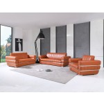 904 - Camel Italian Leather Sofa Set