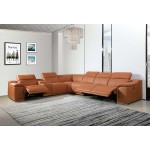 9762 - Camel 3-Power Reclining 7PC Sectional w/ 1-Console